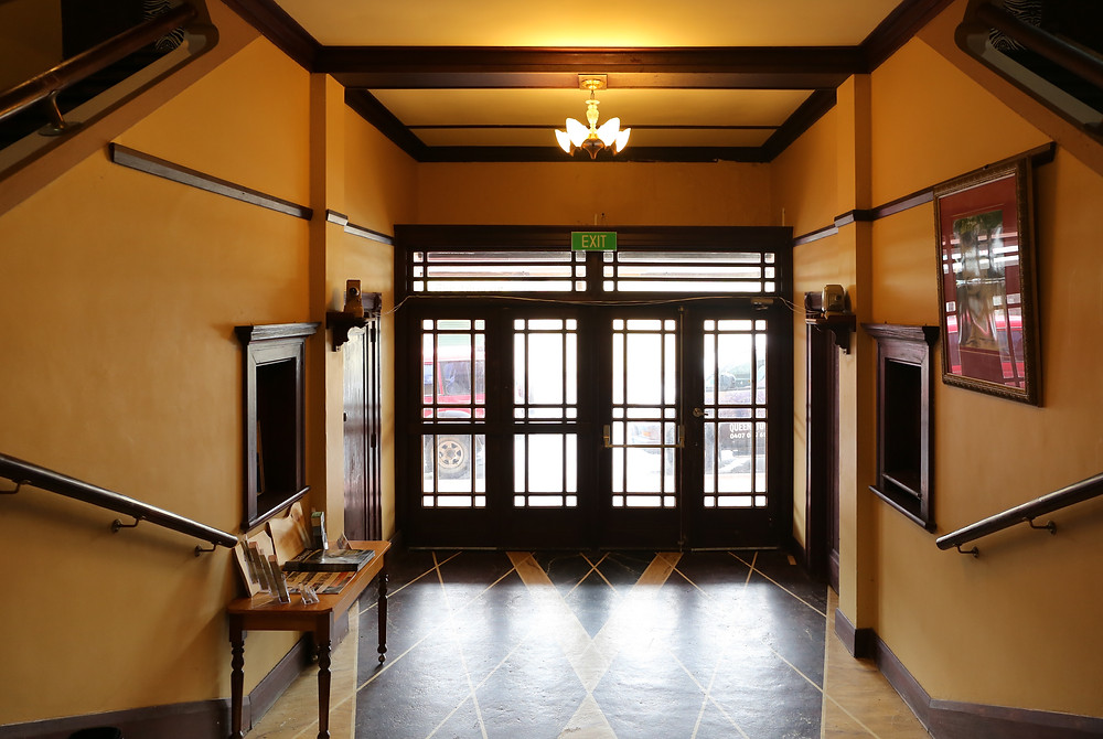 The Paragon Theatre foyer. Find us on Facebook