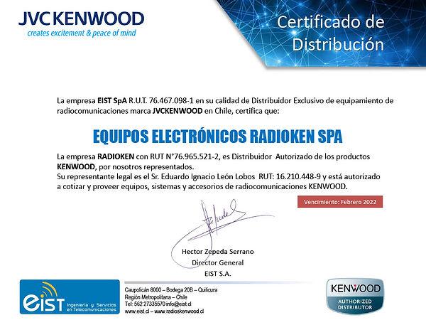 Certificado de Distribuci+¦n 2021 - Radi
