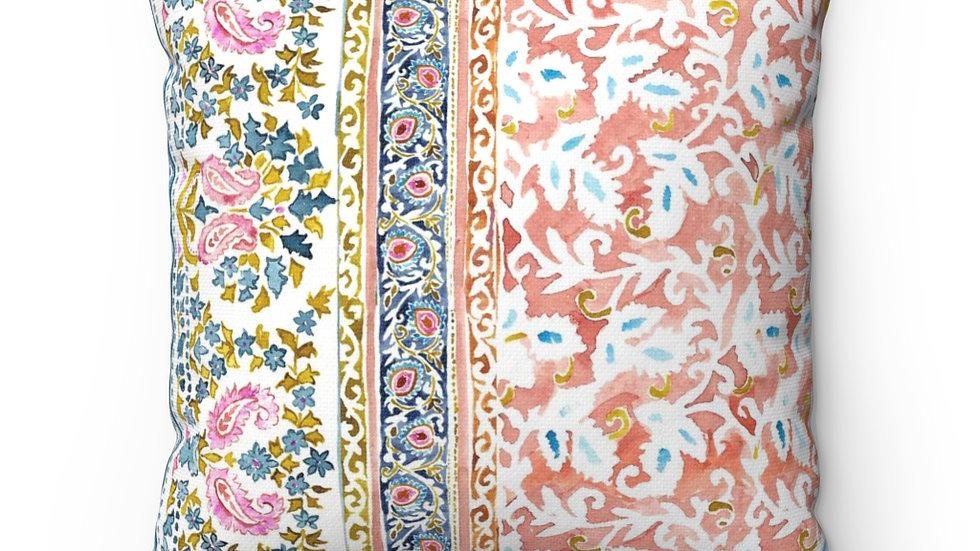 Paisley Floral Blockprint Pillow