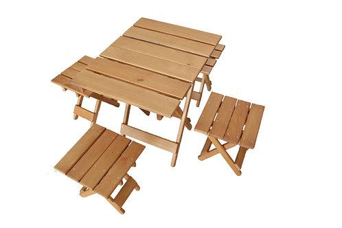 Набор мебели для пикника (стол, 4 стула складные)