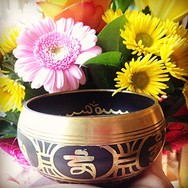 Singing Bowl and flowers