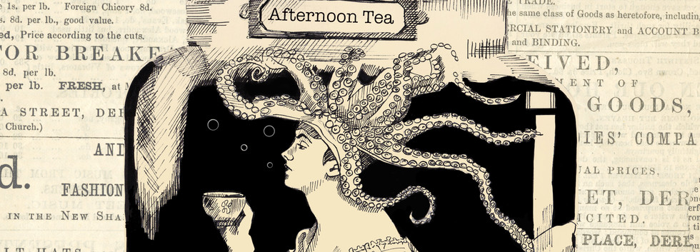 Afternoon tea on newspaper.jpg