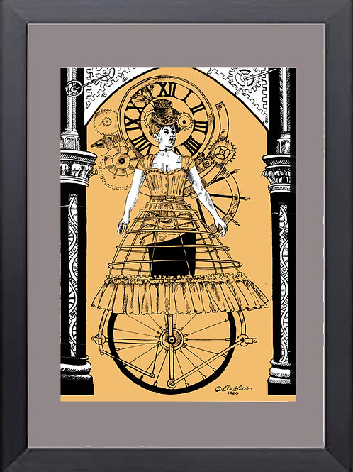 A4 Print Mechanical Girl