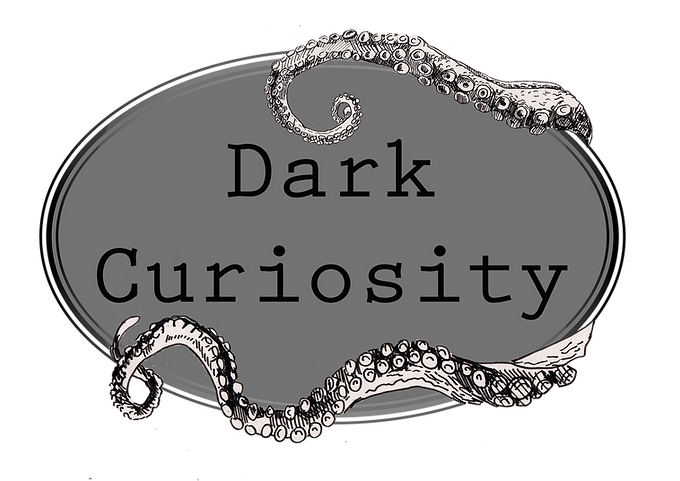 Dark curiosity logo Black and white.png