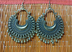 Earrings - brass afghani