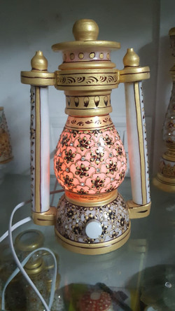 Lantern made from marble