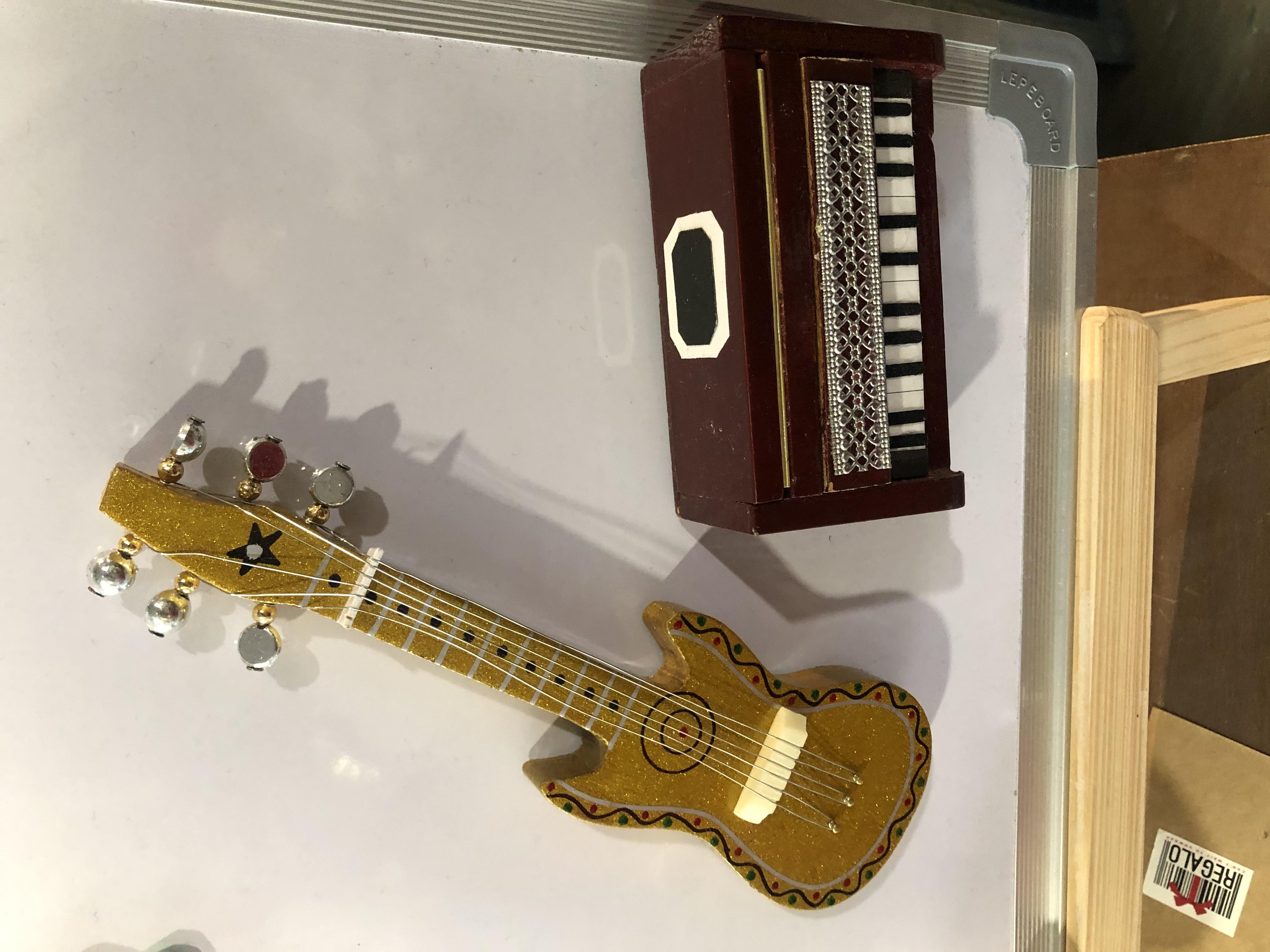 Musical instruments - refrigerator door magnets