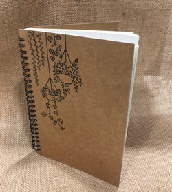 Browny wiro notebook (A5 size) with design
