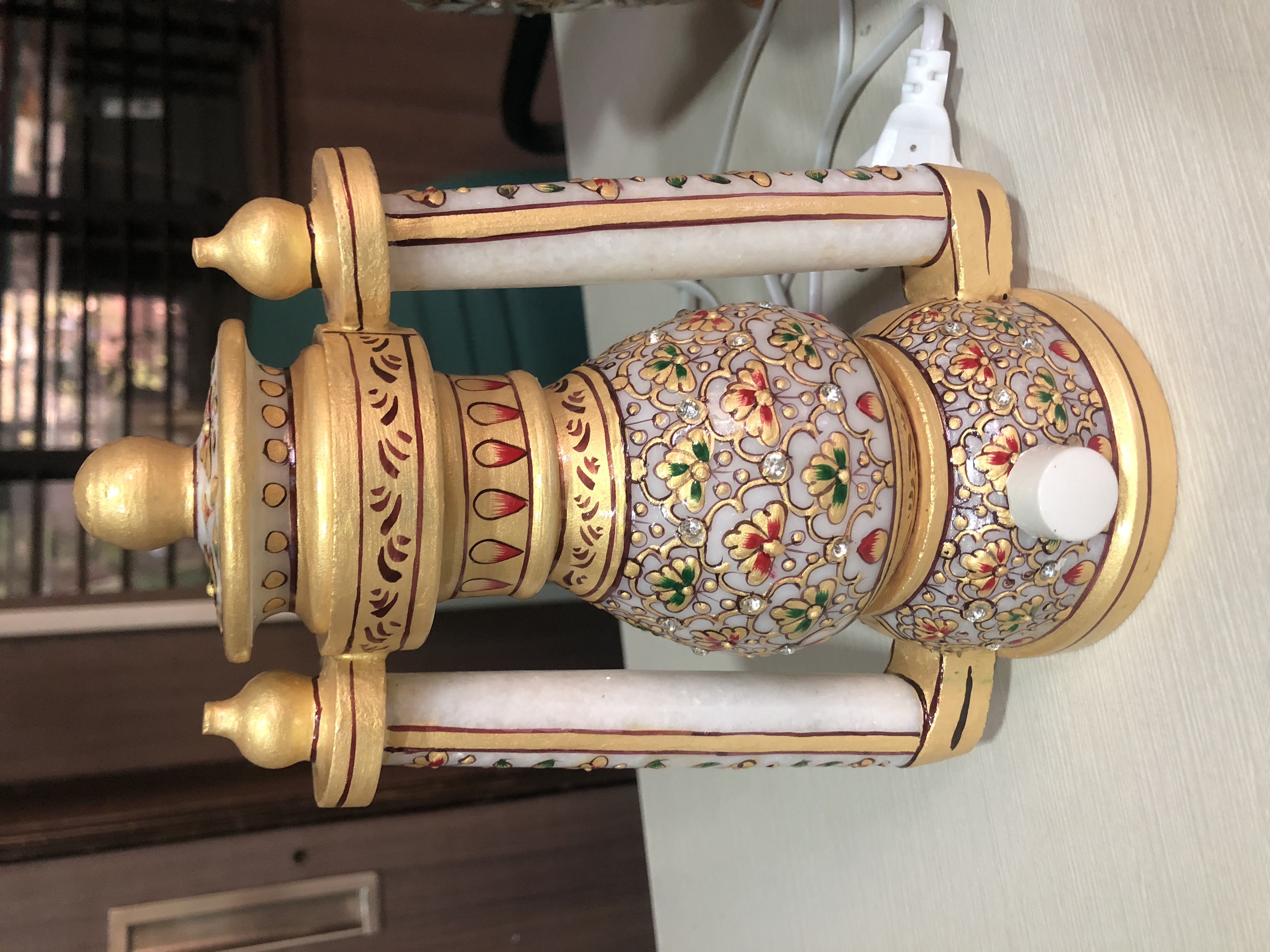Marble lantern eight inches