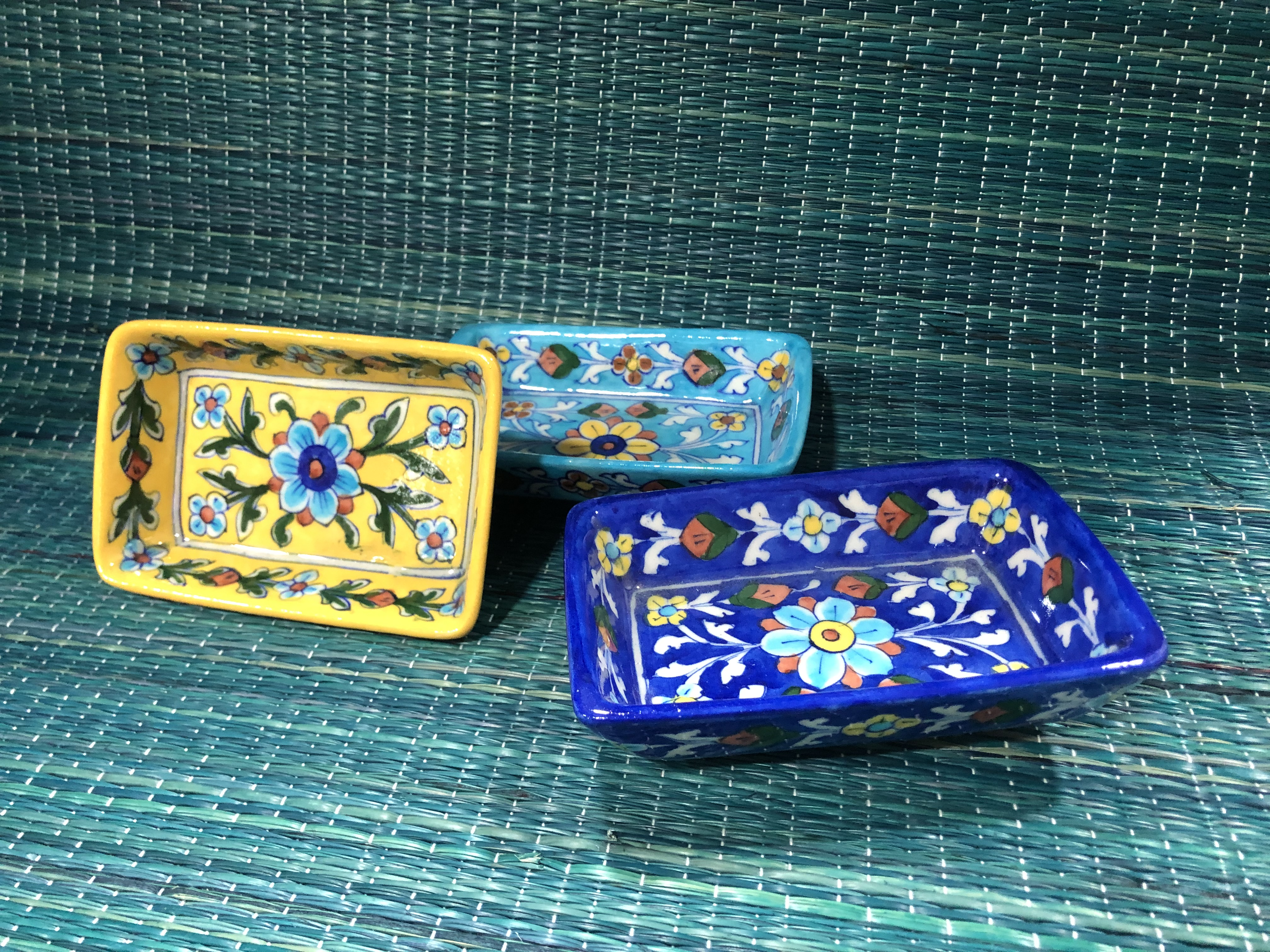Beautifully painted trays