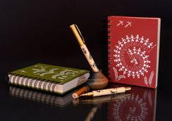 Warli painted wiro notebook