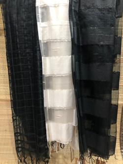 Traditional black / white dupattas