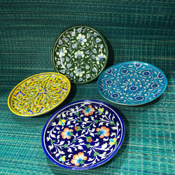 Small plates with beautiful design imprints