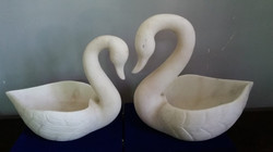 Big and small swan (marble)