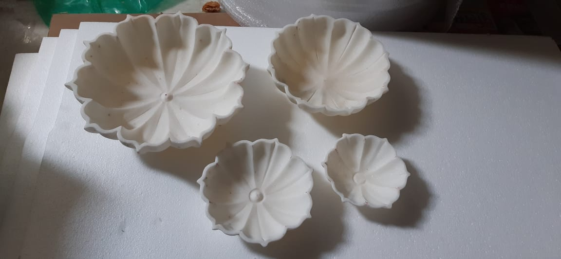 One stone lotus made from marble