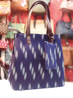 Tote bag with purse - dark blue