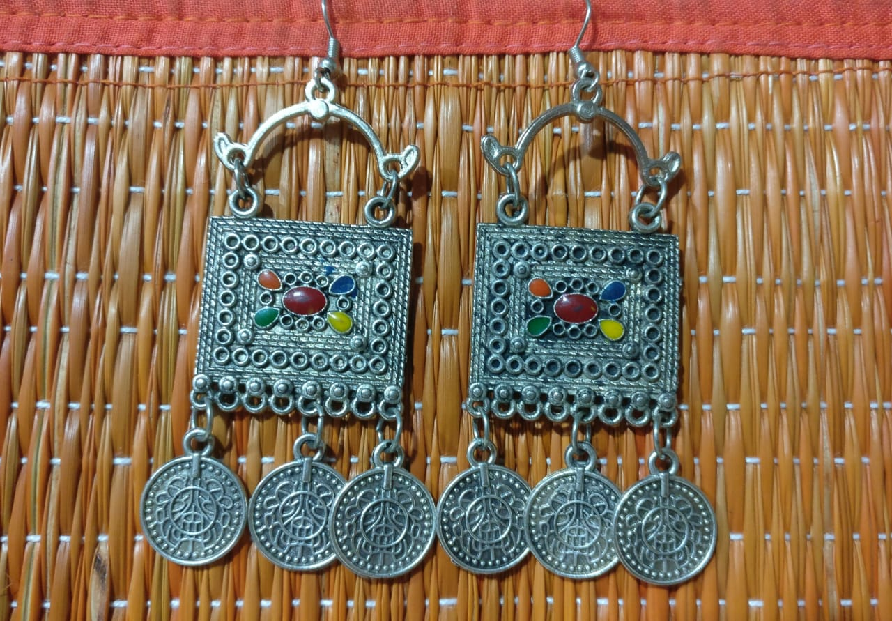 Earrings - coin danglers (metal)
