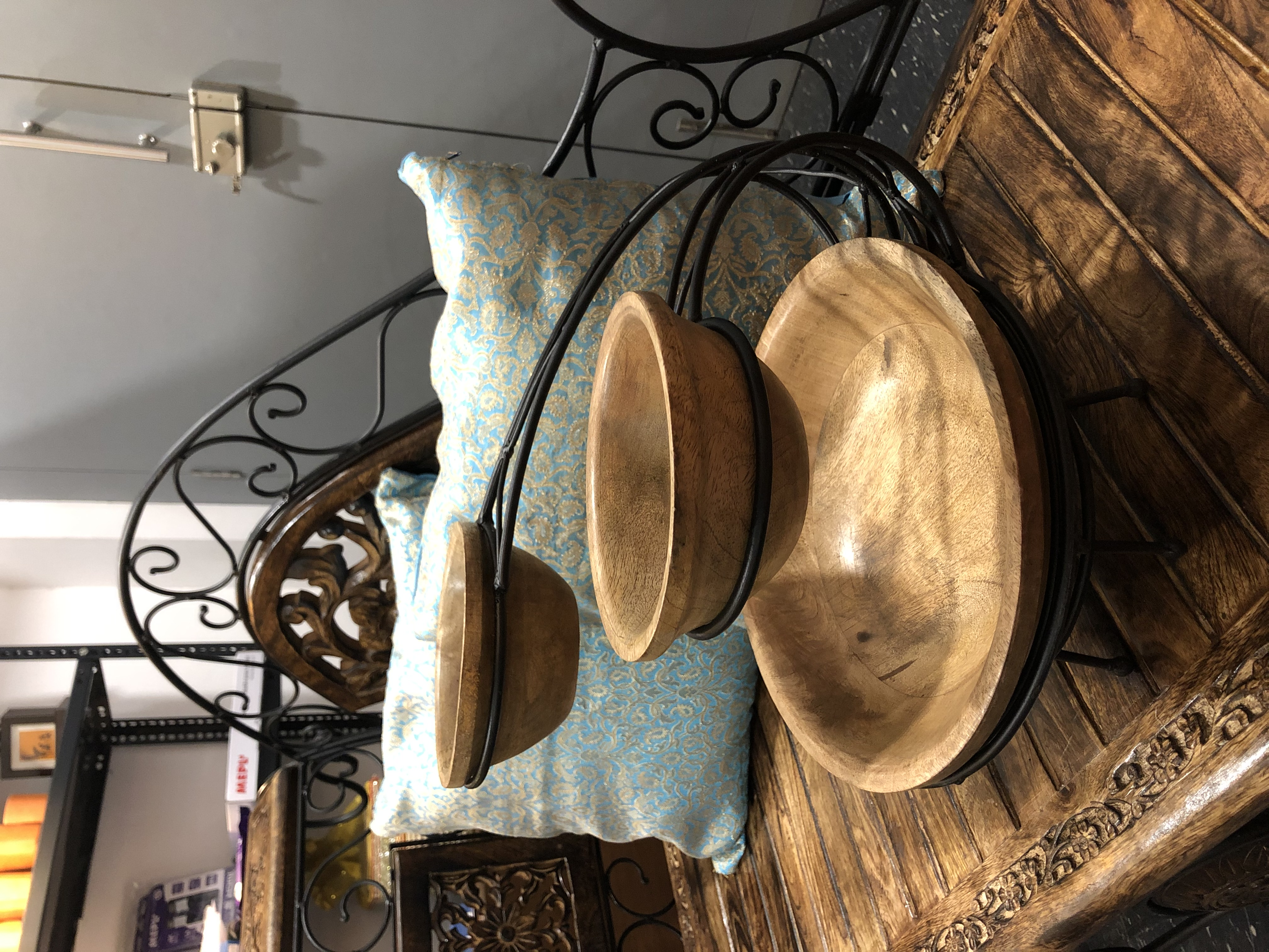 Wooden fruit-dry fruit display stand / bowls