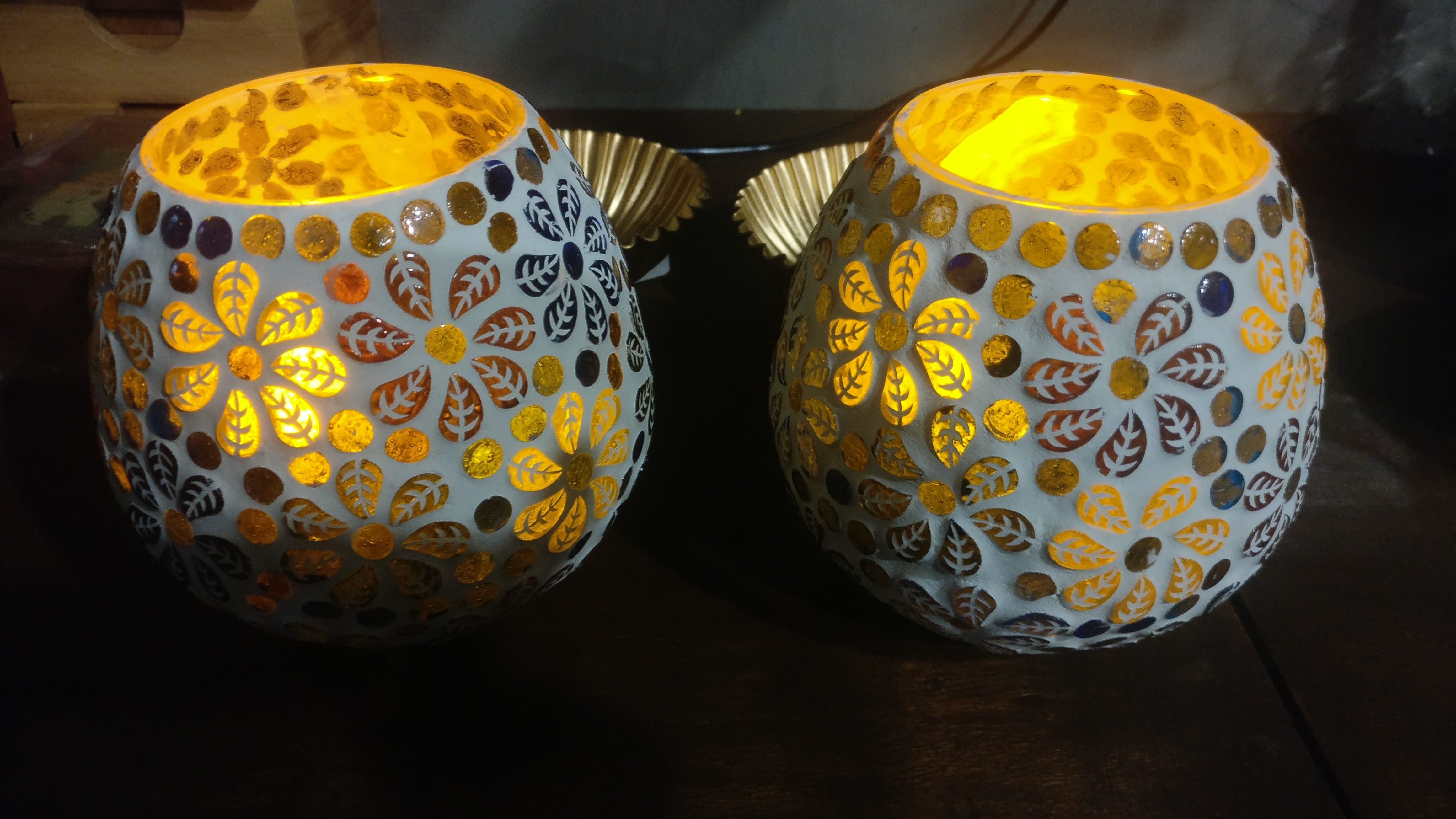 Mosaic Lamp votives