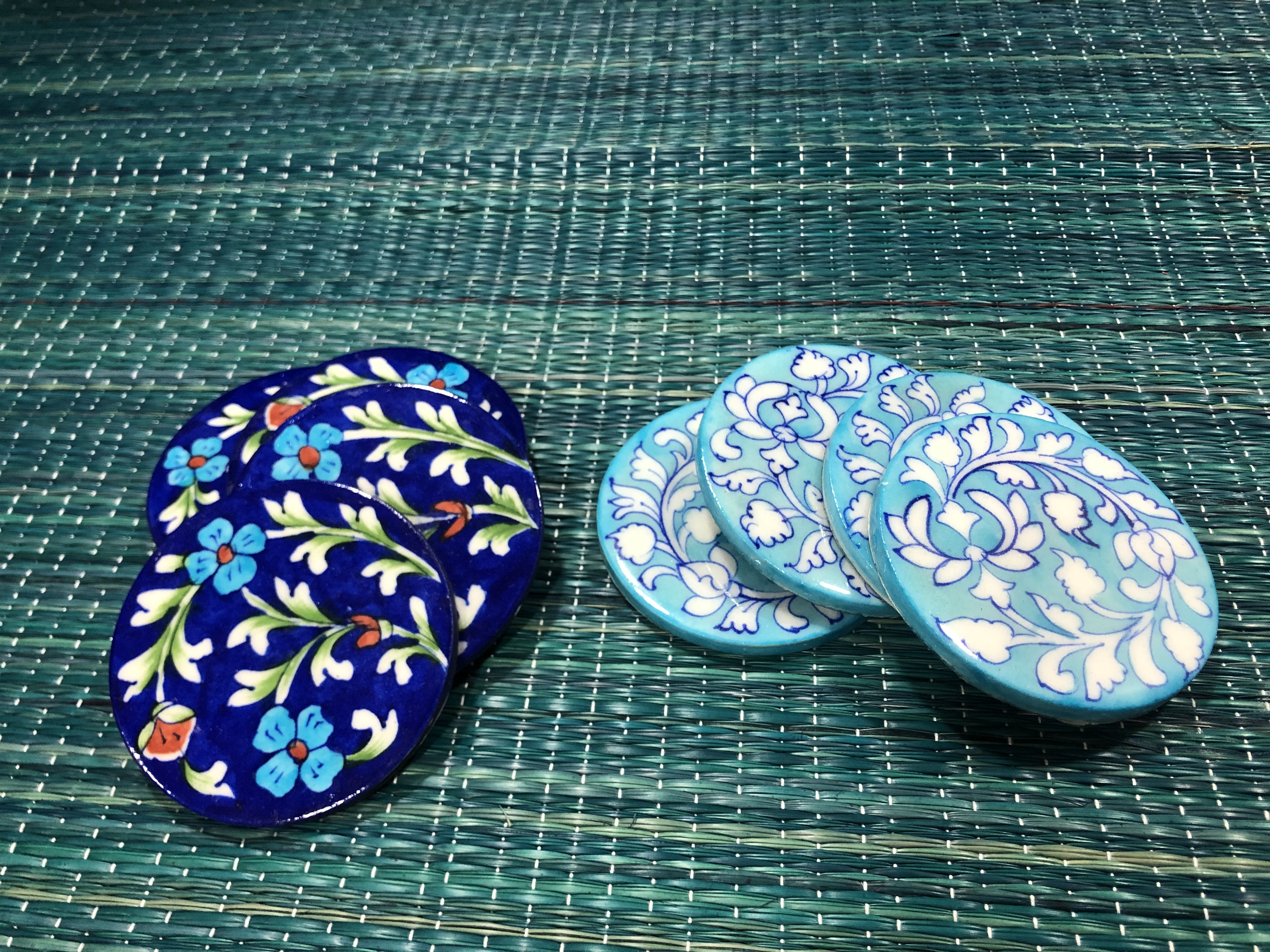 Coasters - with colourful imprints