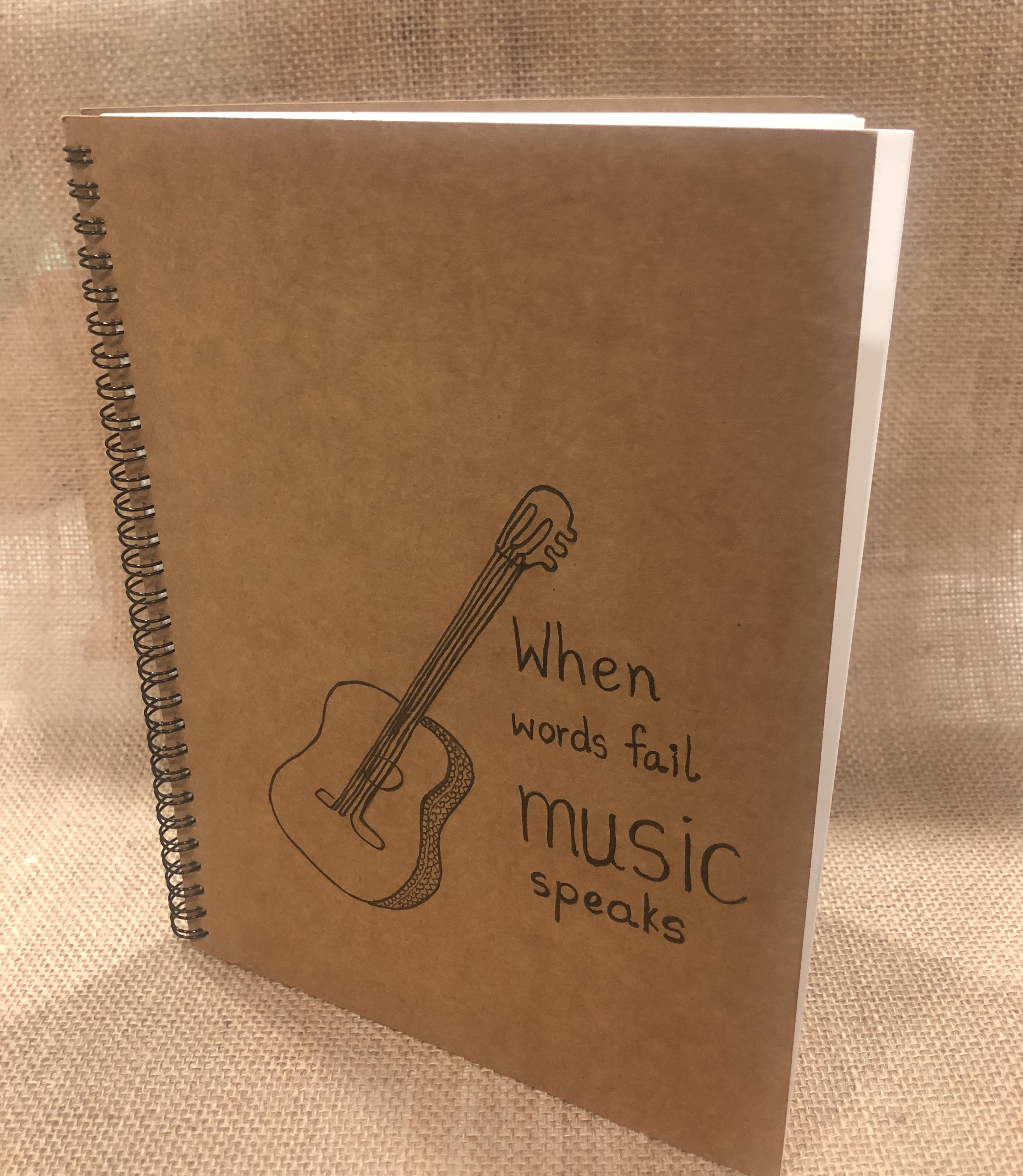 Browny wiro notebook b6 with design