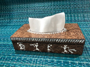 tabletop-tissue holder-rectangular-warli