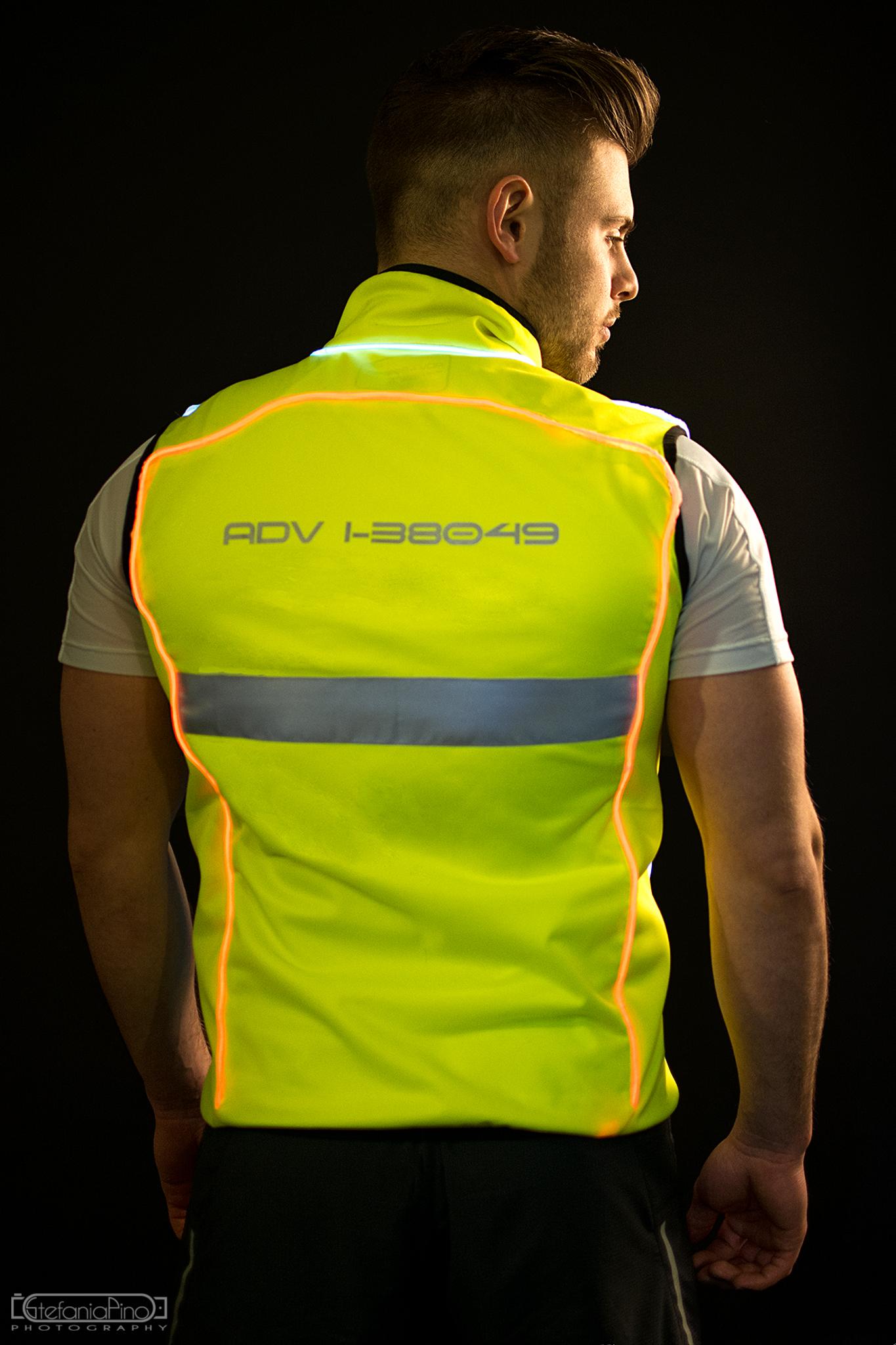 Running vest, particolare led