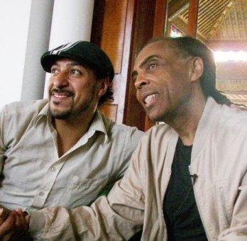 con el gran Gilberto Gil