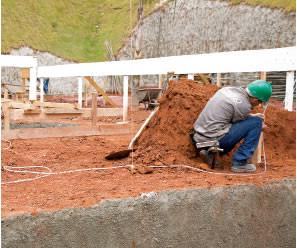 construção de sapata