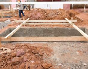 construção de fundação