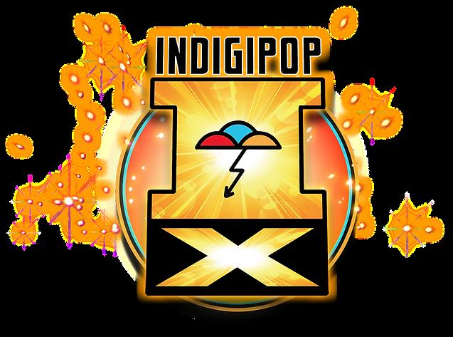 IndigipopX Postcard logo web background.