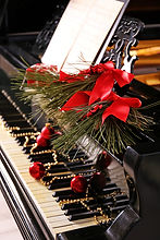 Christmas decoration on piano keys.jpg