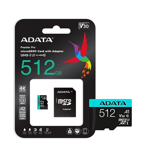 MEMORIA FLASH ADATA PREMIER PRO, 512GB MICROSDXC