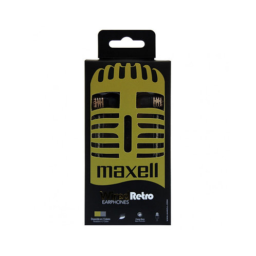 AUDIFONO MANOS LIBRES MAXELL WIRED RETRO