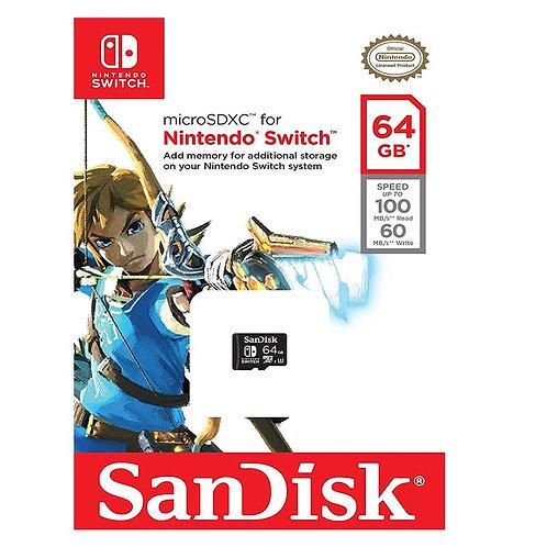 MICRO SD PARA NINTENDO SWITCH 64GB