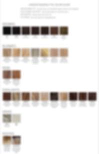 estetica wig design ColorChart_Human hai