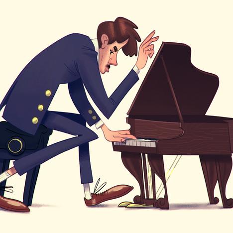 Small piano, grand pianist