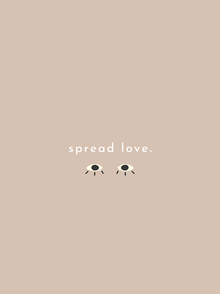 "Poster ""Spread love"""