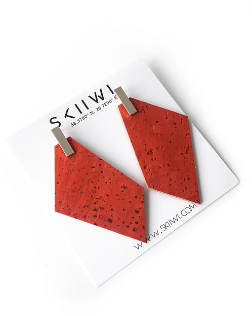 POLYGON Grapefruit Earrings