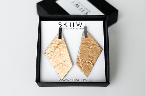 POLYGON Pinatex Gold Earrings