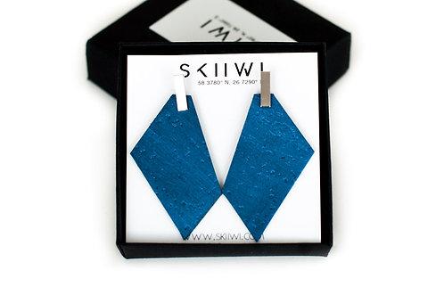 POLYGON Pearl Blue Earrings