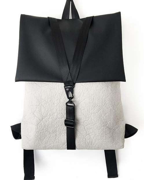 A'DAM x Piñatex ® Grey-Black Backpack