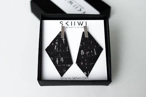 POLYGON Berry-Silver Earrings