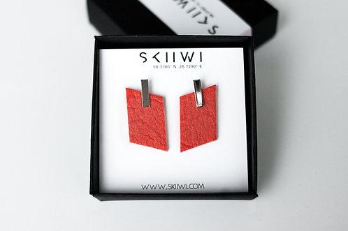 RHOMBOID Pinatex Paprika Earrings