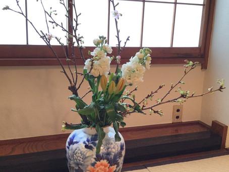 和室の生け花