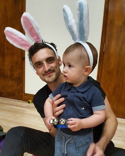 Daddy and baby bunnies!