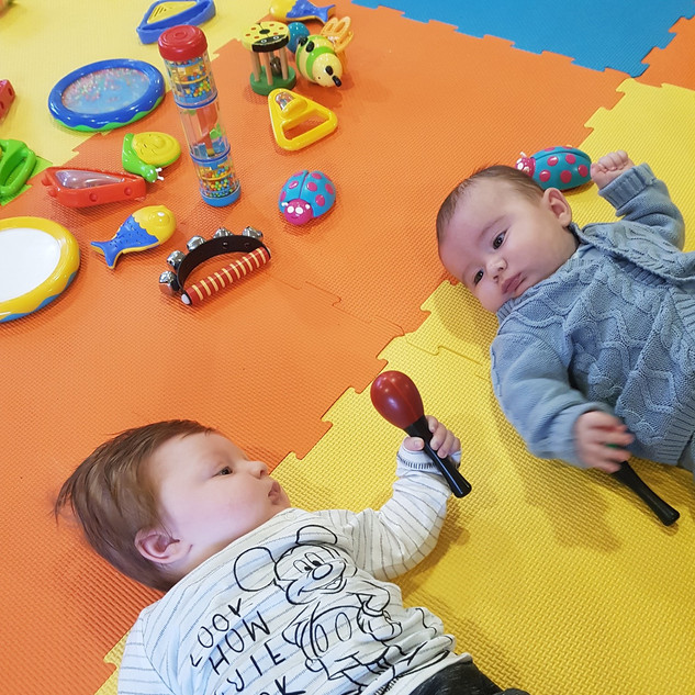 Baby instrument practice