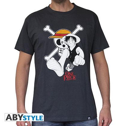 One-piece-tshirt-luffy-emblem-homme-