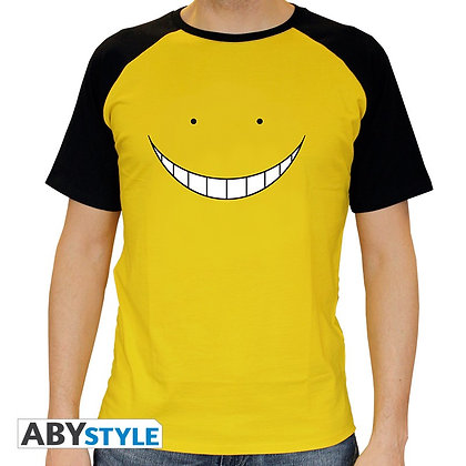 Assassination-classroom-tshirt-koro-smile-homme-mc-jaune