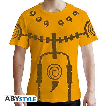 Naruto-shippuden-tshirt-chakra-mode-homme-mc-jaune